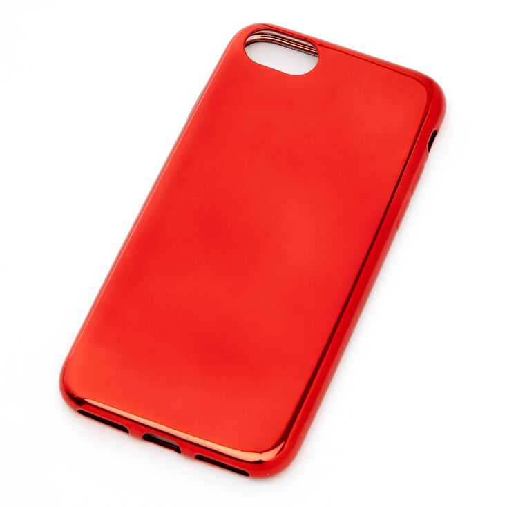 Red Chrome Phone Case - Fits iPhone 6/7/8/SE,