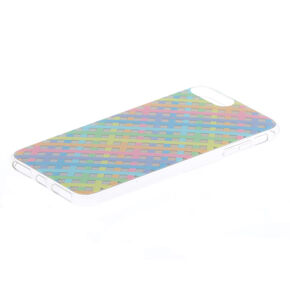 Pastel Checkered Holographic Phone Case,