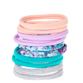 Pastel Floral Rolled Hair Ties,