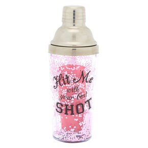 Hit Me With Your Best Shot Cocktail Shaker - Pink,