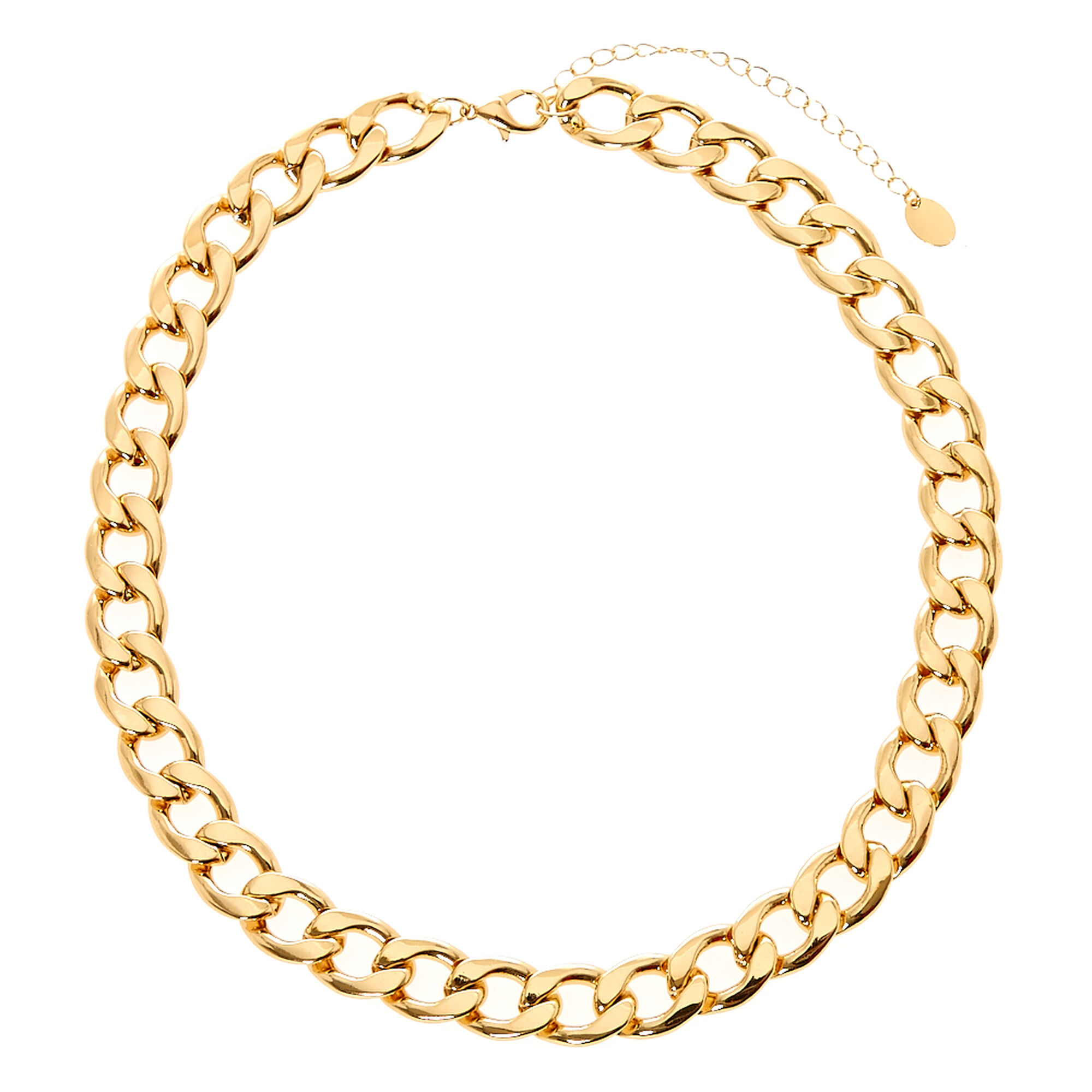 Thick Gold Chain Link Necklace   Icing US