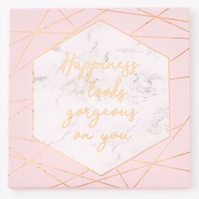 Happiness Looks Gorgeous on You Canvas Wall Art,