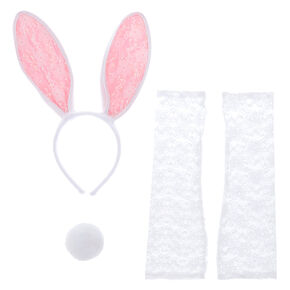 Lace Bunny Costume Kit - White, 3 Pack,