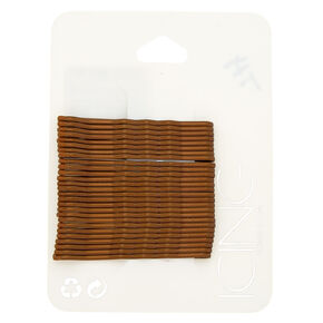 Medium Bobby Pins - Brown, 30 Pack,