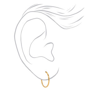 18kt Gold Plated Classic Hoop Earrings - 3 Pack,