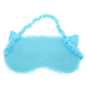 Bling Lash Cat Eye Furry Sleeping Mask - Blue,