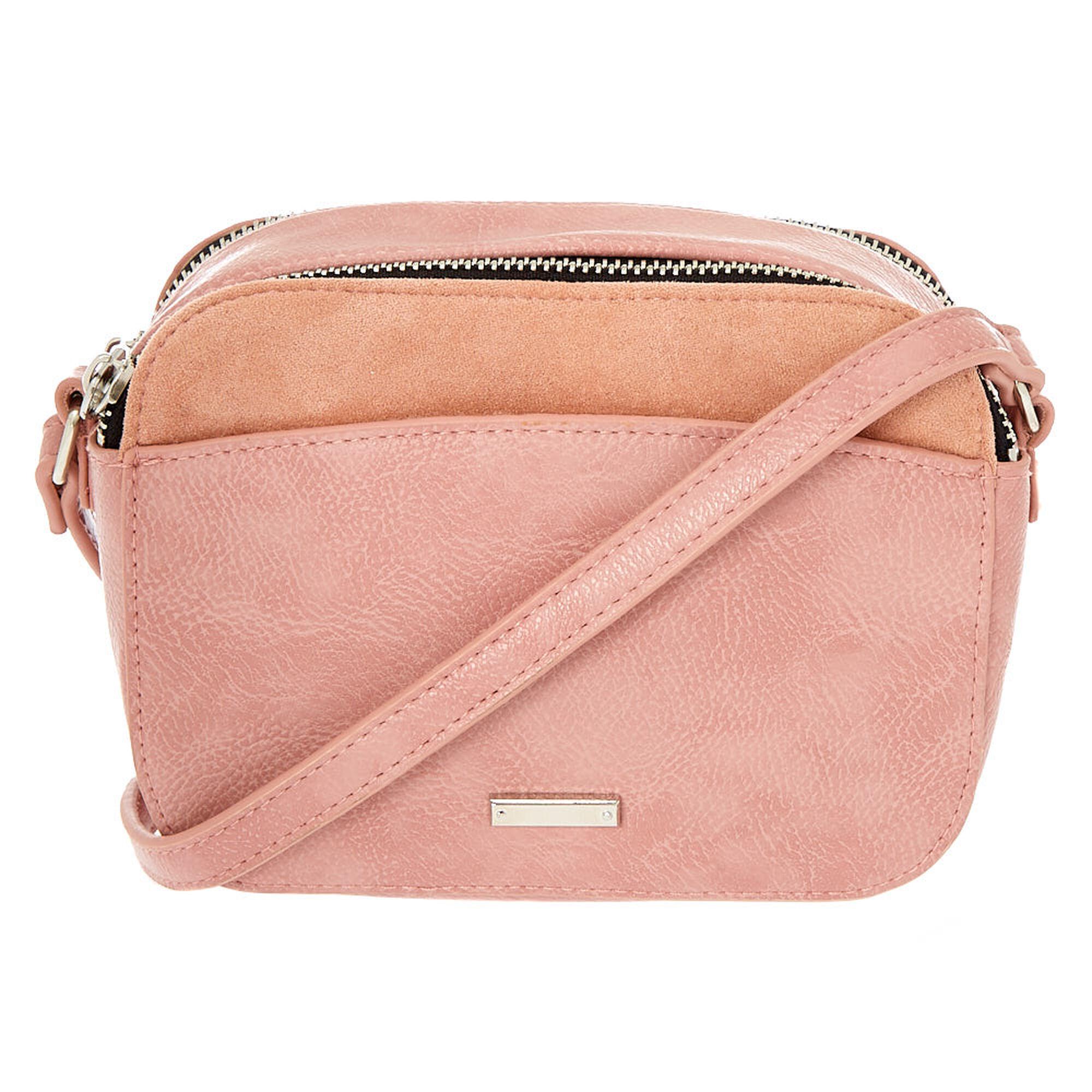 03399e66af Faux Leather Camera Crossbody Bag - Pink