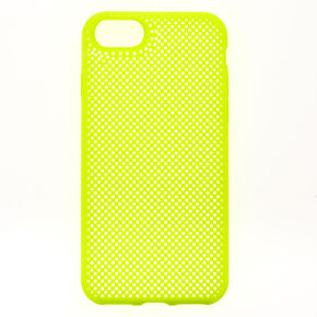 Neon Yellow Perforated Phone Case - Fits iPhone 6/7/8/SE,