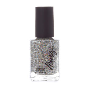 Glitter Top Coat Nail Polish - Silver,