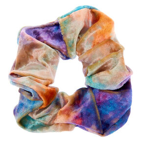 Medium Tie Dye Velvet Hair Scrunchie,
