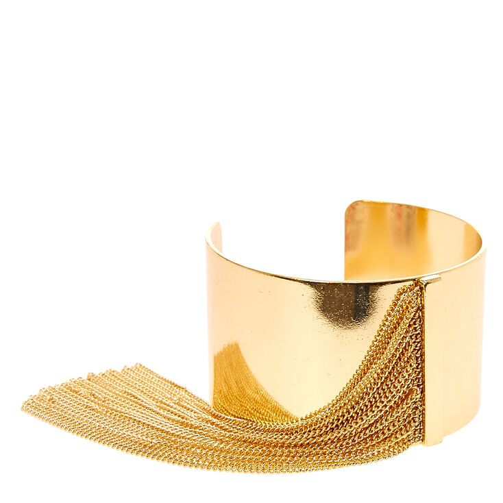 Golden Cuff with Chain Fringe,