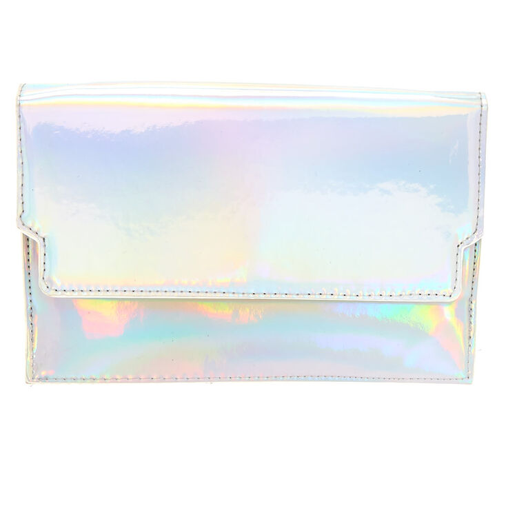 Holographic Patent Clutch Purse,