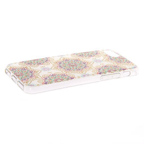 Boho Mandala Clear Phone Case - Fits iPhone 6/7/8,