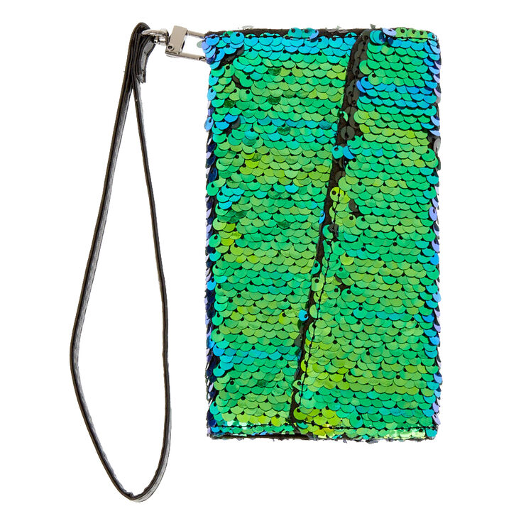 Mermaid Reverse Sequin Folio Phone Case,