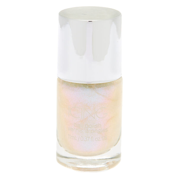 Shimmer Nail Polish - Seafoam Holo Glitter,