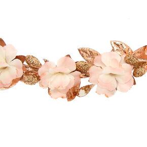 Mini Rose Gold Flower Headwrap,