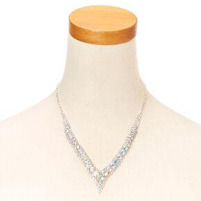 Iridescent Kate Crystal V Necklace,