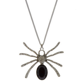 Hematite Spider Necklace,