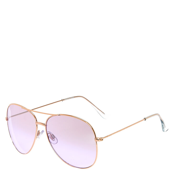 5f8727dee431 Aviator Purple Tinted Sunglasses | Icing US