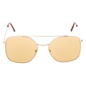 Square Aviator Sunglasses - Brown,