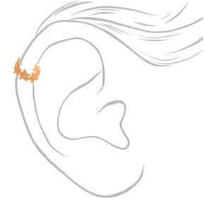Mixed Metal Sandblasted Cuff Earrings - 3 Pack,