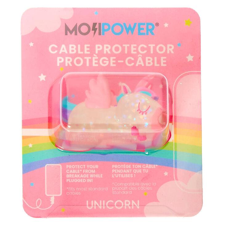 MojiPower® Glitter Unicorn Cable Protector - Clear,