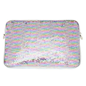 Rainbow Pastel Reverse Sequin Laptop Sleeve,