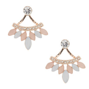 Blush Front & Back Earrings,