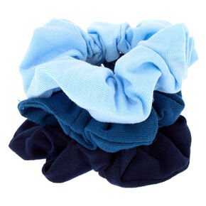 Small Ocean Breeze Hair Scrunchies - Blue, 3 Pack,