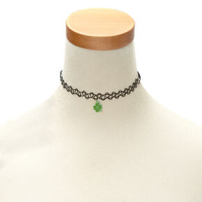 St. Patrick's Day Tattoo Shamrock Choker,