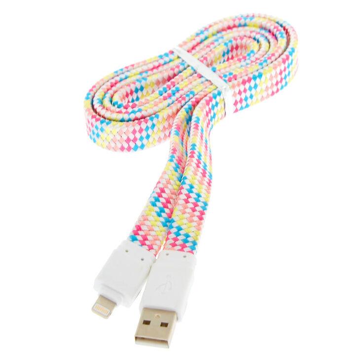 Rainbow Shoelace Lightning USB Cord,