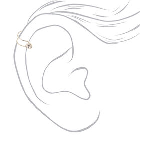 Silver Crystal Ear Cuffs - 6 Pack,