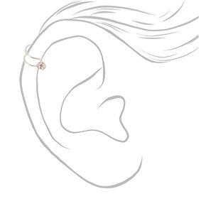 Silver Crystal Ear Cuffs - 6 Pack,