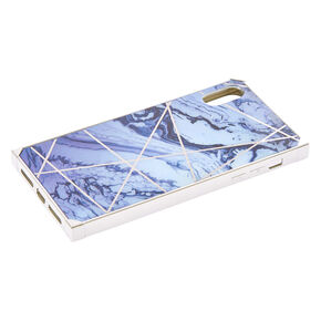 Silver Marble Square Phone Case - Fits iPhone XS Max,