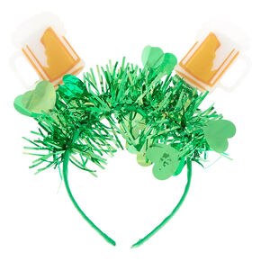 Beer Mugs Deely Bopper Headband - Green,
