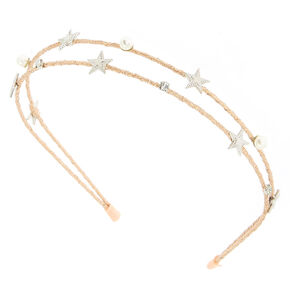Night Sky Two Row Headband - Pink,