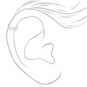 Sterling Silver Leaf Band Ear Cuff,