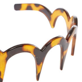 Tortoiseshell Scalloped Teeth Comb Headband,