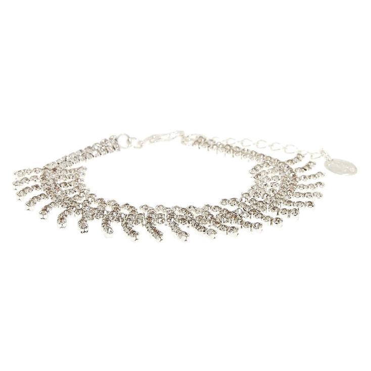 Fishtail Chain Crystal Bracelet,