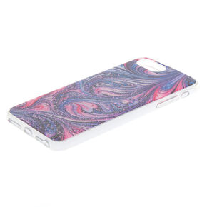 Pink & Purple Glitter Swirl Phone Case - Fits iPhone 6/7/8 Plus,