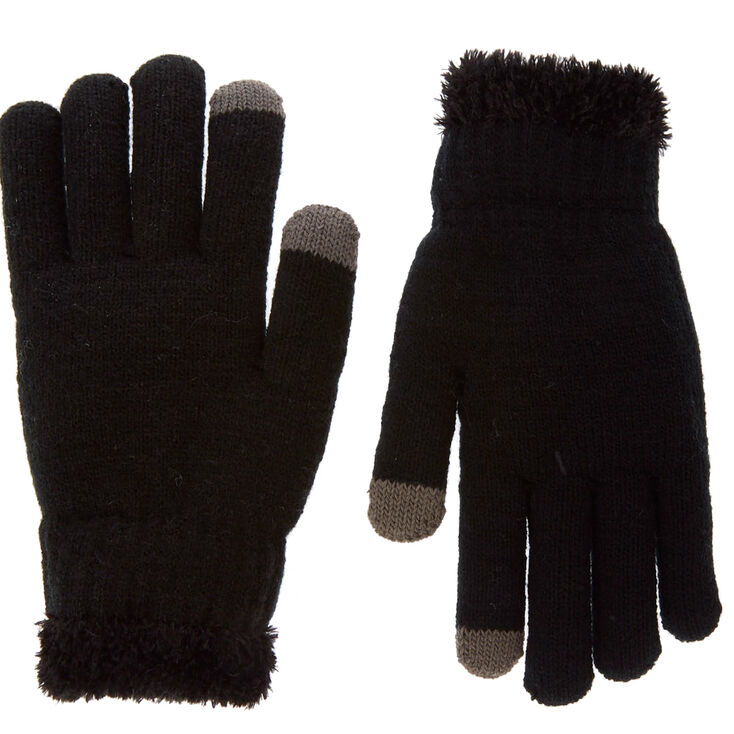 Black Touch Screen Winter Gloves,