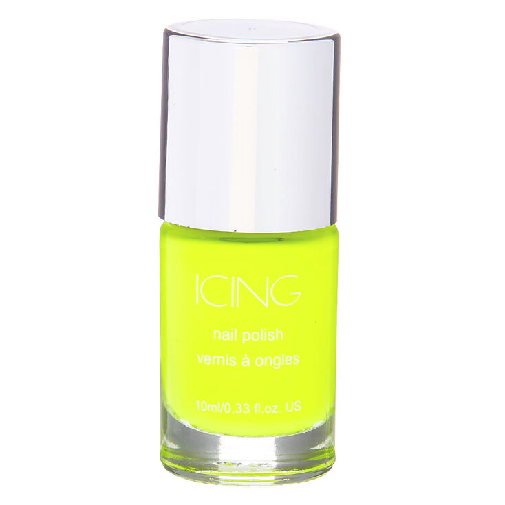Solid Nail Polish - Neon Yellow,