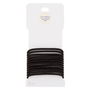 Luxe Hair Ties - Black, 12 Pack,