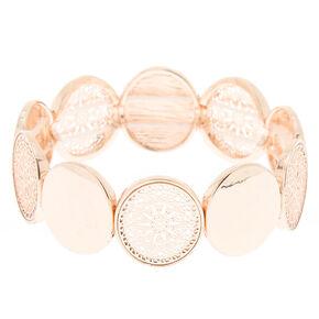 Rose Gold Filigree Disc Stretch Bracelet,