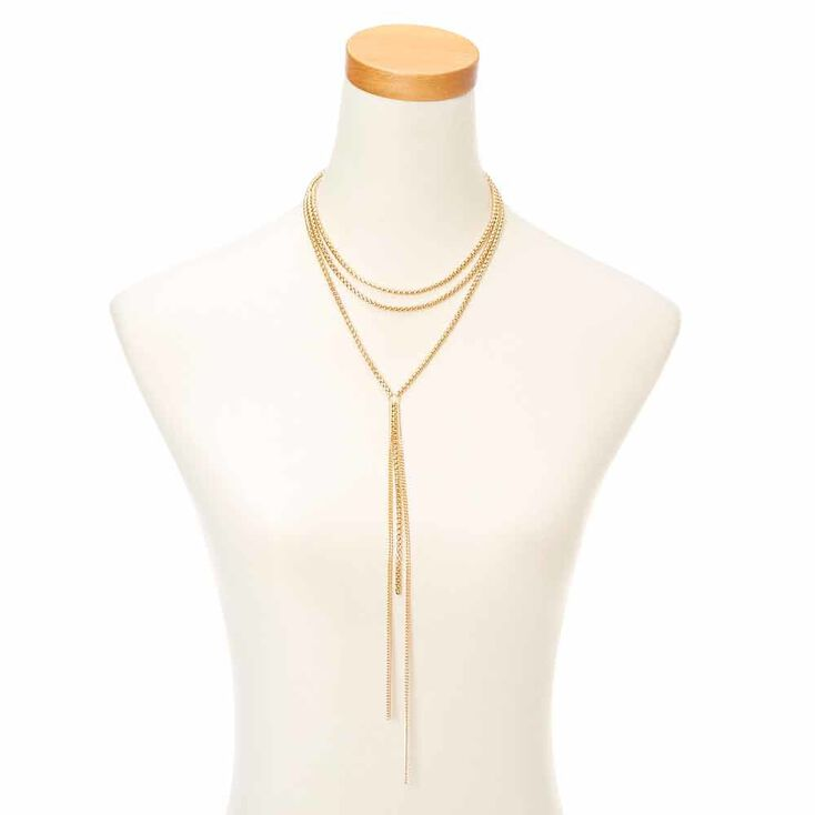 Gold Toned Knot Necklace,