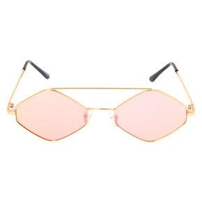 Hexagonal Sunglasses - Pink,