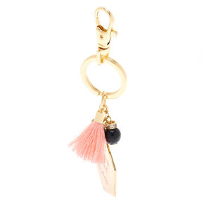 I'm a Cool Mom Tassel Keychain - Gold,