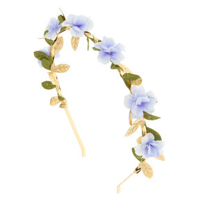 Periwinkle Flower Leaf Headband,