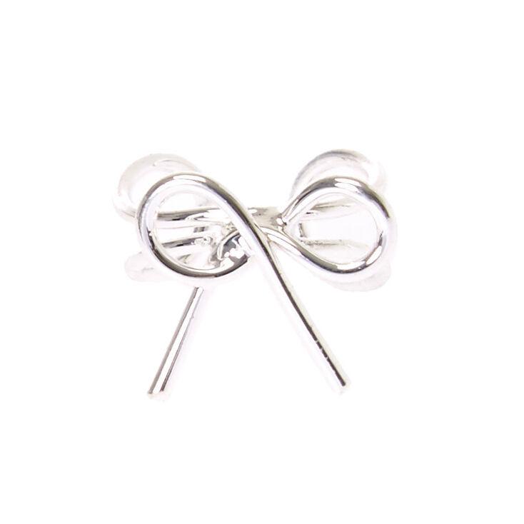 Silver Bow Ear Cuff,