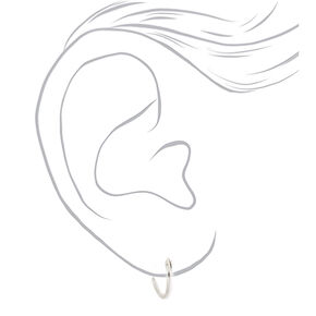 Sterling Silver Mixed Heart Hoops & Stud Earrings - 3 Pack,